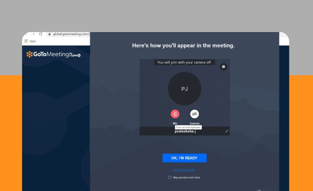 Join a Meeting on GoTo meeting