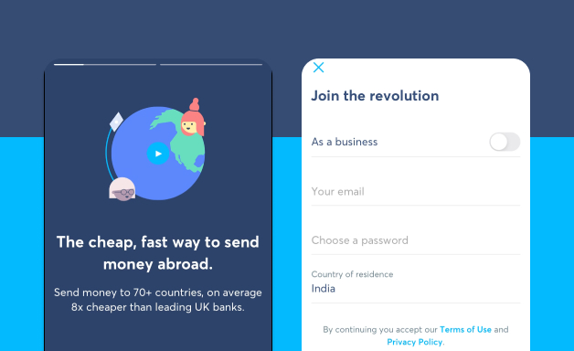 Adding recipients on TransferWise
