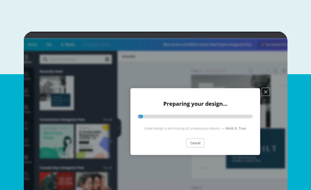 Exporting file on Canva
