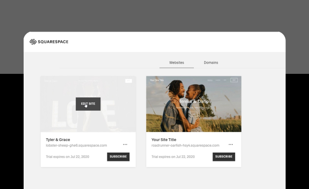 Editing Website on Squarespace
