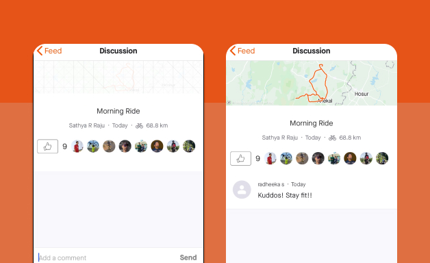 Creating a comment on Strava