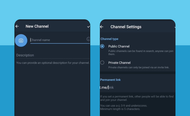 Creating a Channel on Telegram